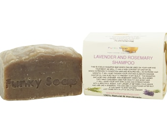 1 piece Lavender & Rosemary solid Shampoo Bar 100% Natural Handmade 120g