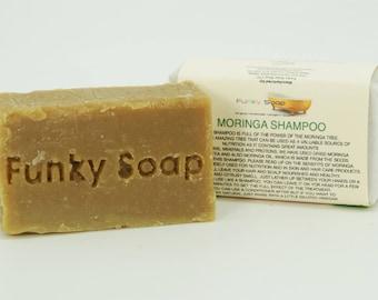 1 piece Moringa Shampoo Bar 100% Natural Handmade aprox.65g