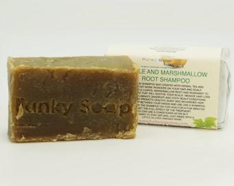 1 piece Nettle and Marshmallow Root Shampoo Bar 100% Natural Handmade 65g