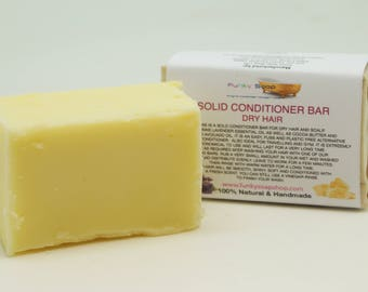 1x Solid Conditioner Bar for Dry hair, 95g, Handmade and economical