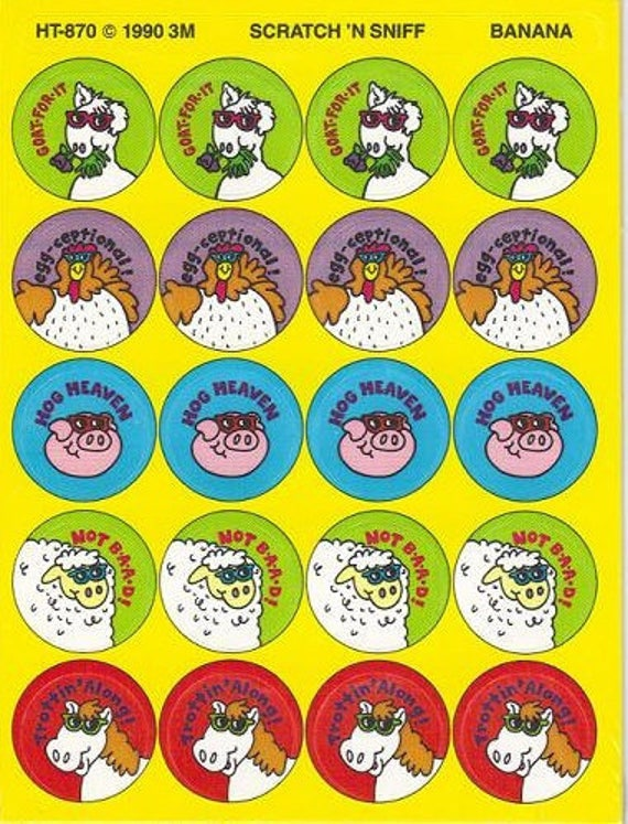 Vintage Trend Stinky 1 Scratch N Sniff Sticker Sheets Choice of 12 Different
