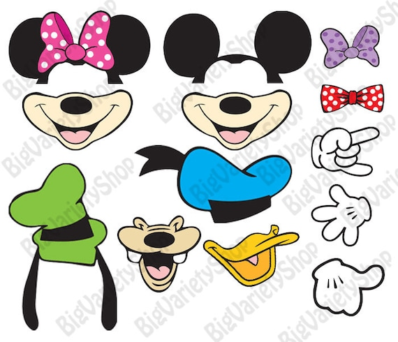 50 Off 12 Minnie Mouse Photo Booth Prop Minnie Mouse Etsy
