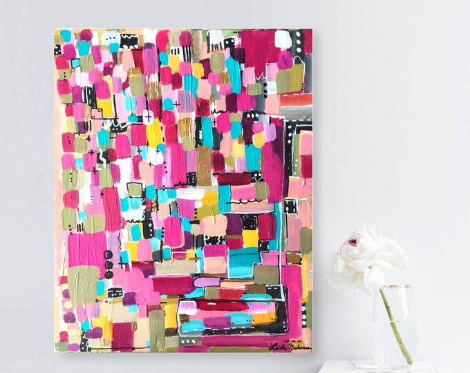abstract painting, original painting, geometric wall art, gold abstract, abstract wall art, acrylic original painting, abstract canvas art