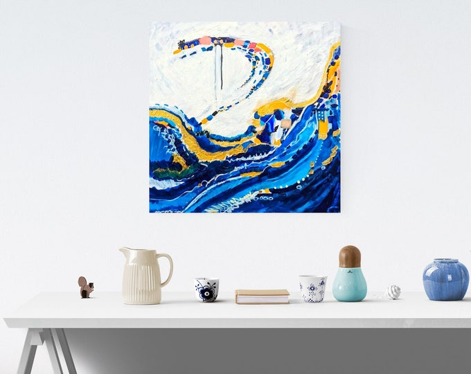 Under The Tide - 24 x 24 in