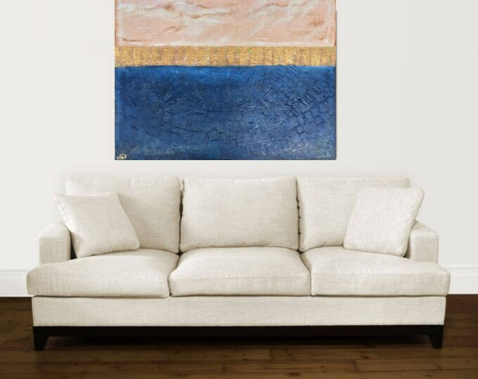 """large abstract painting """"custom"""" painting original art contemporary modern art blue painting huge painting on canvas"""