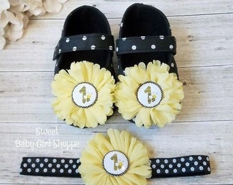 24f4ff998c2d33 Bumble Bee Shoes for a Bumble Bee Birthday Outfit - Bumblebee First  Birthday - Bee Day Party - Bee Day Outfit - Bee 1st Birthday Outfit