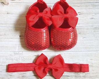 Red Sparkle Shoes Etsy