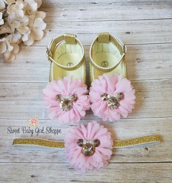 Minnie Mouse Pink and Gold Shoes Pink