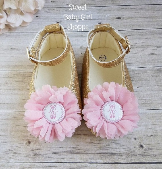 Pink and Gold Ballerina Birthday Outfit