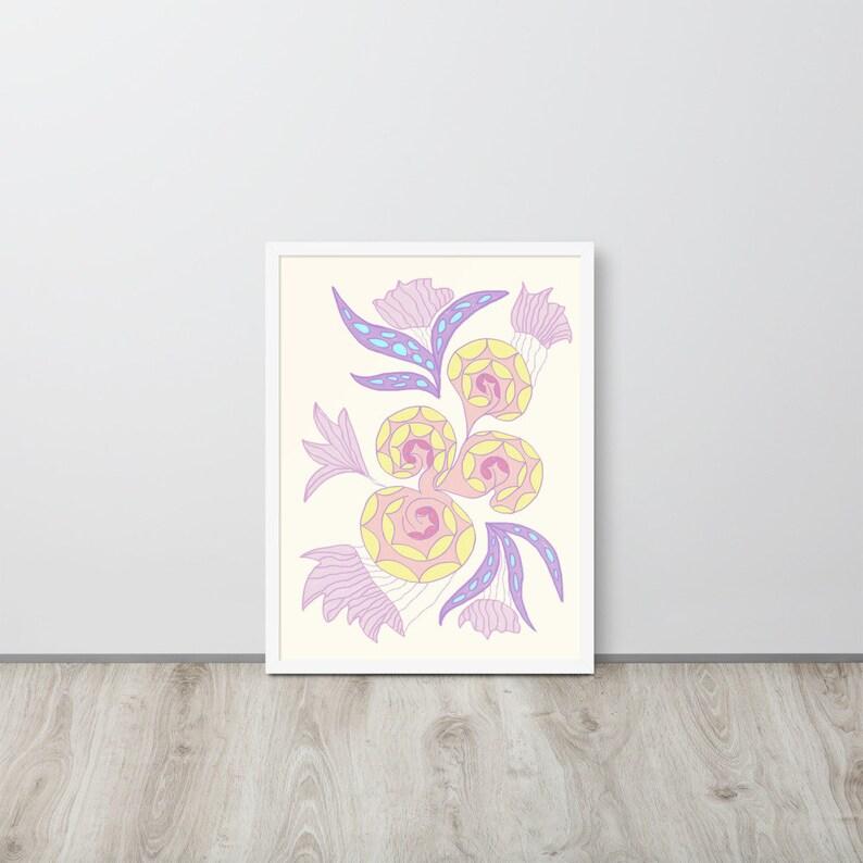 aesthetic wall art Modern digital art print original floral wall art
