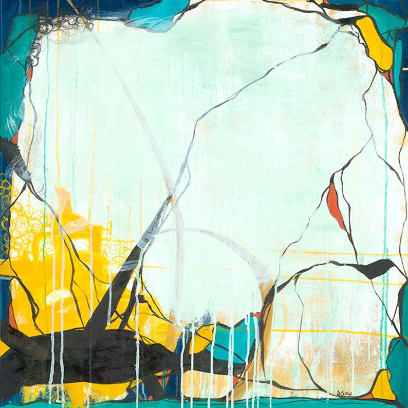October  Square Abstract Expressionism Painting image 0