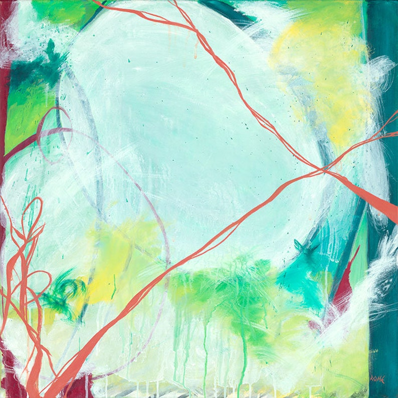 April  Square abstract expressionist painting image 0