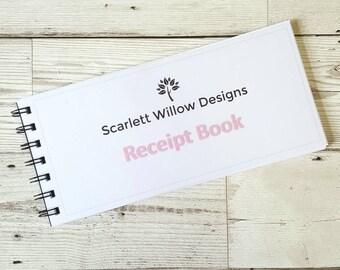 Business Receipt Book, customer receipts, craft fair, market seller