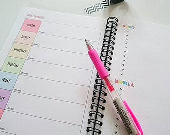 Open Dated Rainbow Diary Planner