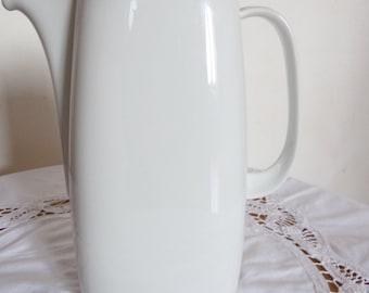 cafetière vintage et design;porcelaine; Schirnding Bavaria, liseré argent, deco scandi, vintage, design, moderne, epurée,shabby.