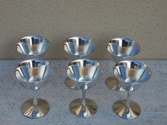 Glazen wijn messing zilver jaren famipa prizren chique etsy