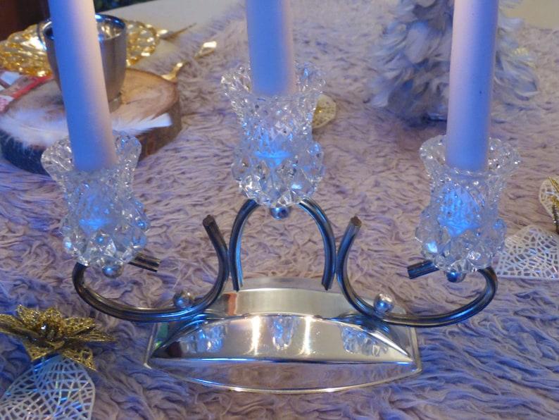 Kronleuchter Vintage Silber ~ Kronleuchter leuchter kerzenleuchter aus metall silber und etsy