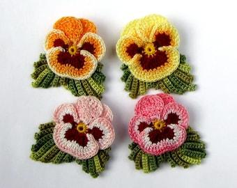 Hand Dyed Flower Pin Irish Crochet Flower Brooch Womens Gift Fiber Art Brooch Crochet Jewelry Crochet Brooch