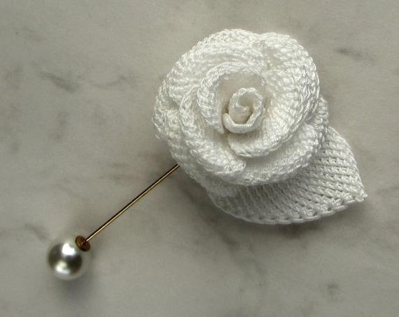 Crochet flower pattern left handed crochet rose tutorial etsy