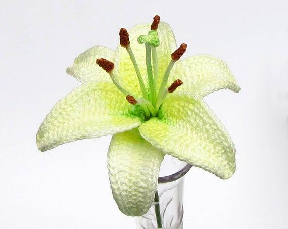 Crochet Flower Pattern Pdf Lily Photo Tutorial Irish Crochet