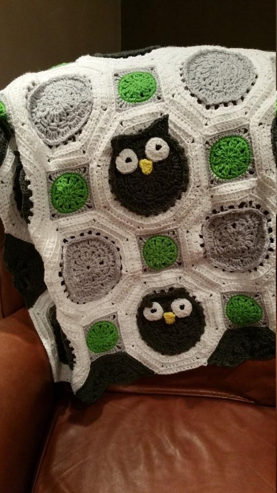 Owl Afghan Blanket - Crocheted Baby Blanket