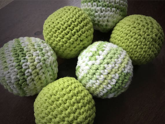 All Natural Dryer Balls, Eco Friendly Laundry Ball, Essential Oils Scented, Set of 6, Chemical Free, Natural Laundry