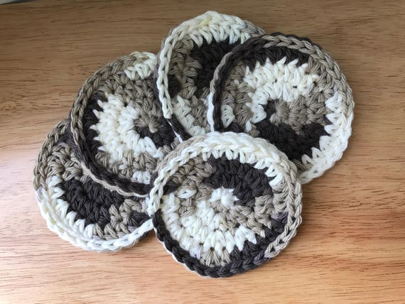 Eco Friendly Round Cotton Face Pads, Natural Cleaning Washcloths, Exfoliating Pads, Makeup Remover Cloths, Cotton Makeup Pads, Round Pads