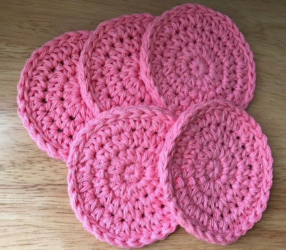 Round Cotton Face Pads, Natural Cleaning Washcloths, Exfoliating Pad, Makeup Remover Cloths, Cotton Makeup Pads, Eco Friendly Cleaning