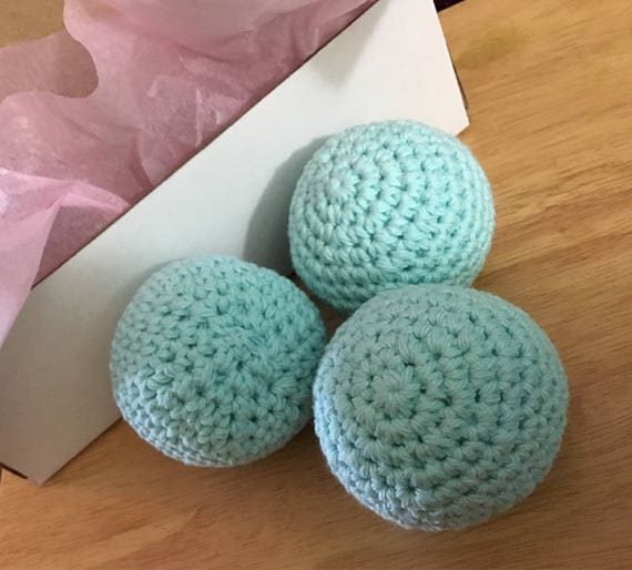Essential Oil Scented Dryer Balls, Eco Friendly Crocheted Cotton Ball, Vegan Cottton Dryer Balls, Natural Laundry