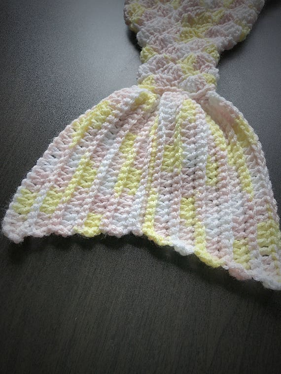 Crocheted Mermaid Tail, Sleep Sack, Baby Girl Cocoon, Mermaid Cocoon, Sleeping Bag, Girl Costume, Sleep Sack, Baby Cocoon, Gift for Her