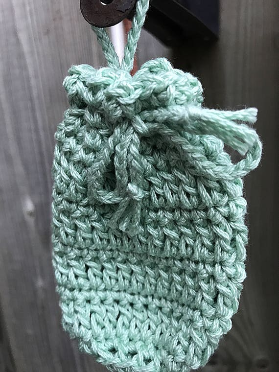 Soap Saver, Cotton Bag, Hanging Soap Sack, Crocheted Soap Saver, Cotton Crocheted Washcloth, Bridal Shower, Engagement Gift, Housewarming