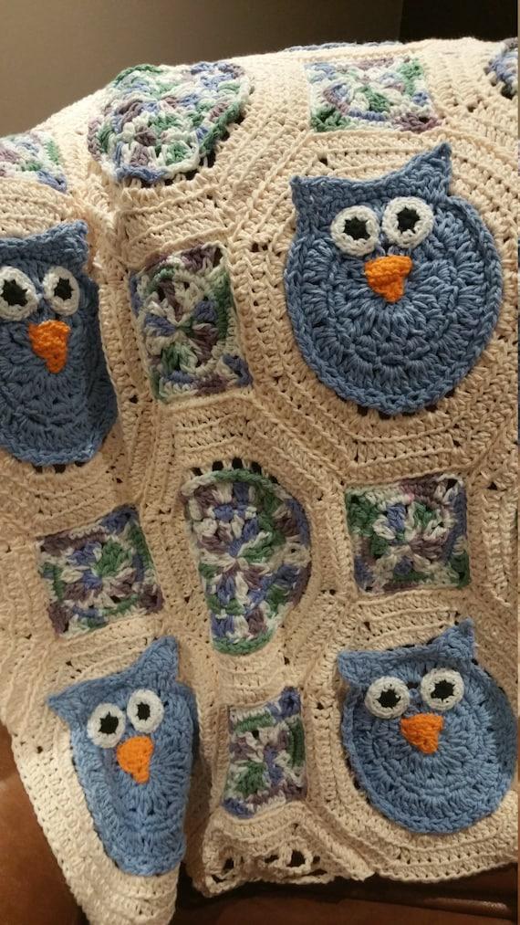 Owl Baby Blanket / Owl Blanket / Lap Afghan / Baby Girl Blanket / Baby Blanket / Owl Afghan / Crib Blanket / Crib Afghan / Baby Boy Blanket