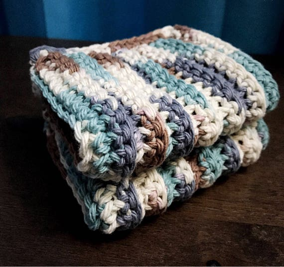 Cotton Bathroom Washcloths, Crocheted Dishcloths, Face Cloths, Body Washcloth, Multipurpose Cloths, Household Cloths, Natural Cleaning