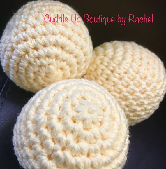 Eco Friendly Dryer Balls, Essential Oils Scented, Set of 3, Naturally Soften, Crocheted Cotton Balls, Chemical Free Laundry, Less Wrinkle