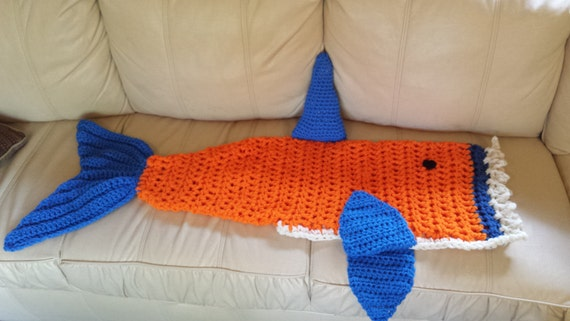 labor day sale handmade crochet syracuse orange shark etsy. Black Bedroom Furniture Sets. Home Design Ideas