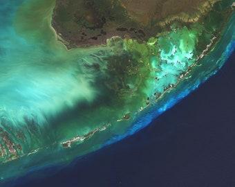 Map Of The Florida Keys.Florida Keys Map Etsy