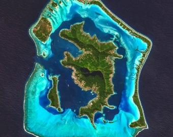 Satellite Map Of Florida.Florida Keys Satellite Imagery Florida Florida Keys Usa Etsy