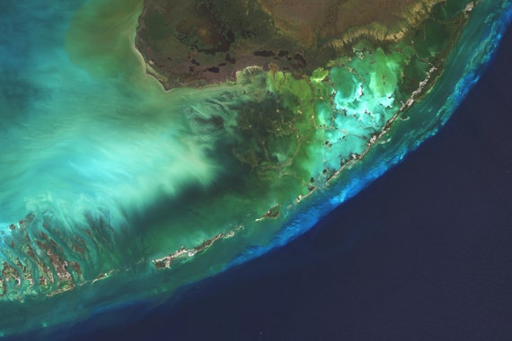 Florida Keys Satellite Imagery Florida Florida Keys Usa Etsy