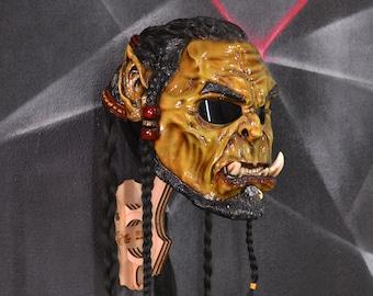 Orc Durotan motorcycle helmet. Warcraft certified moto helmet. Cosplay mask. Free shipping.