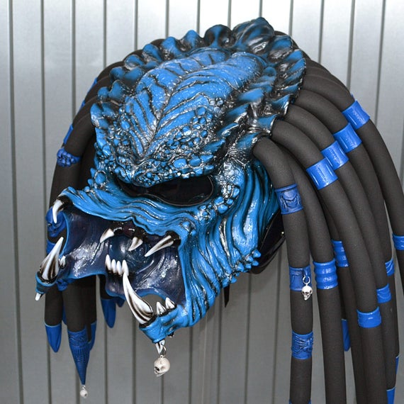 unique predator motorcycle helmet kawasaki blue color. Black Bedroom Furniture Sets. Home Design Ideas