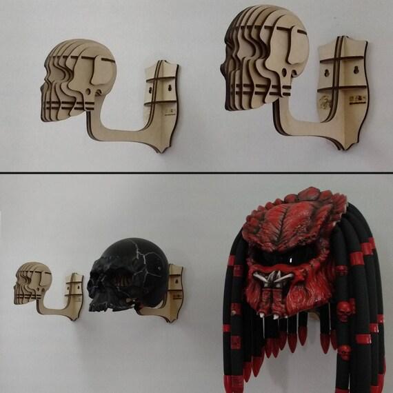 mural casque de t te de mort cintre pour casque de moto etsy. Black Bedroom Furniture Sets. Home Design Ideas