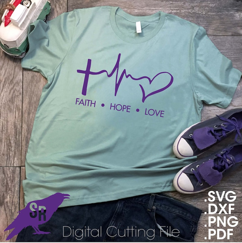 324+ Faith Hope Love Heartbeat Svg Zip File