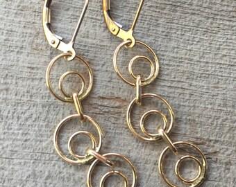 Gold-Fill Chain Earrings