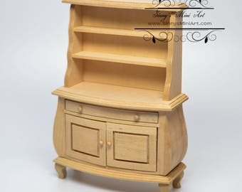1:12 Dollhouse Unfinished Miniature Buffet/ Miniature Furniture AZ GWJ23