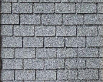 Asphalt Shingles Black Square Butt 4001 miniatures roofing dollhouse USA 1//12