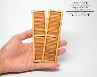 Dollhouse Miniature Louvered Shutters AM2012