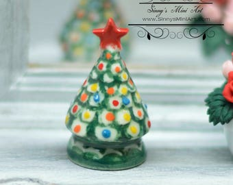 112 dollhouse miniature ceramic christmas tree christmas decorations bd b410