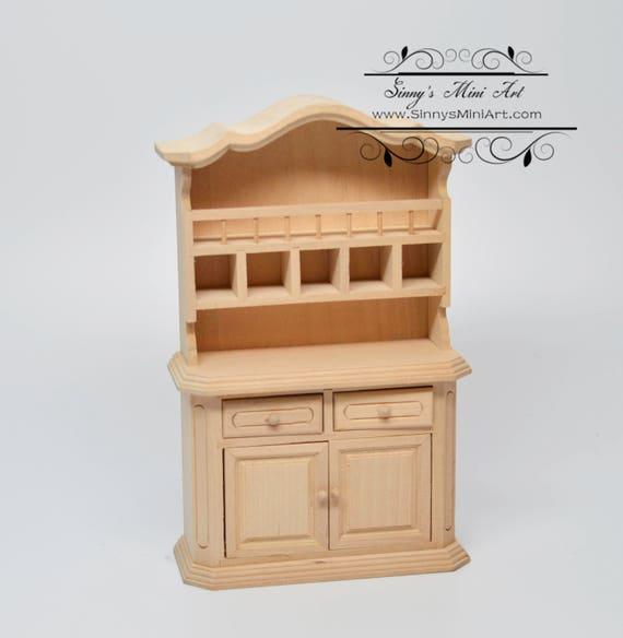 1:12 Dollhouse Miniature Unpainted Buffet/ Miniature
