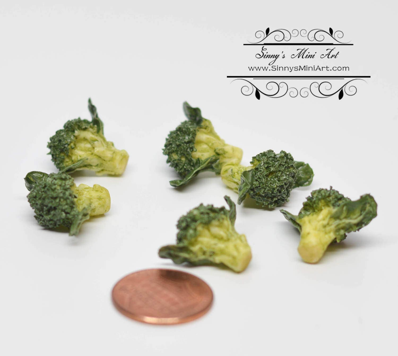 6 PC 1:12 Dollhouse Miniature Broccoli/ Miniature