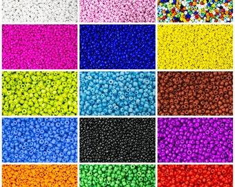 60 Seed Beads Japanese 30 grams X 10 colors Luminous Neon